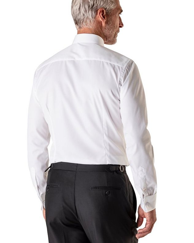 Slim Fit Pleated Bib Front Tuxedo Shirt  picture 3