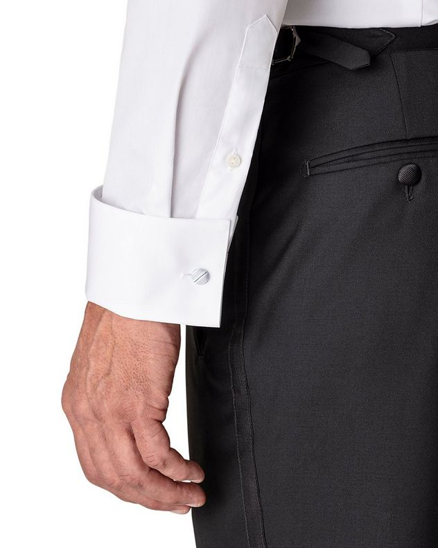 Slim Fit Pleated Bib Front Tuxedo Shirt  picture 4