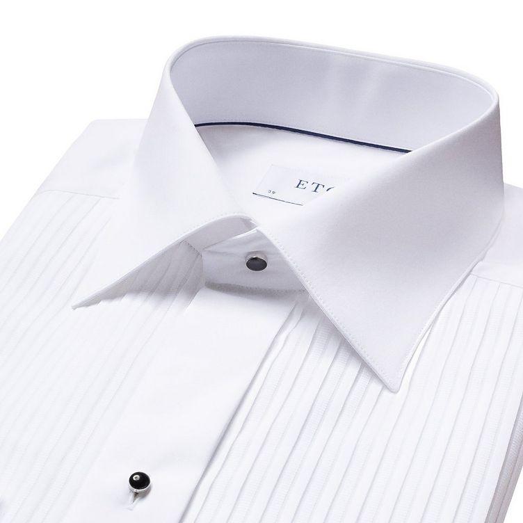 Slim Fit Pleated Bib Front Tuxedo Shirt  image 4