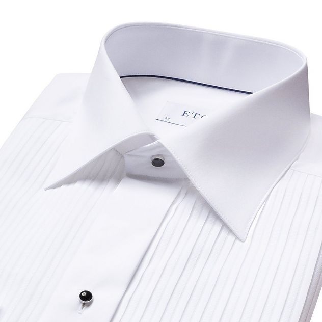 Slim Fit Pleated Bib Front Tuxedo Shirt  picture 5