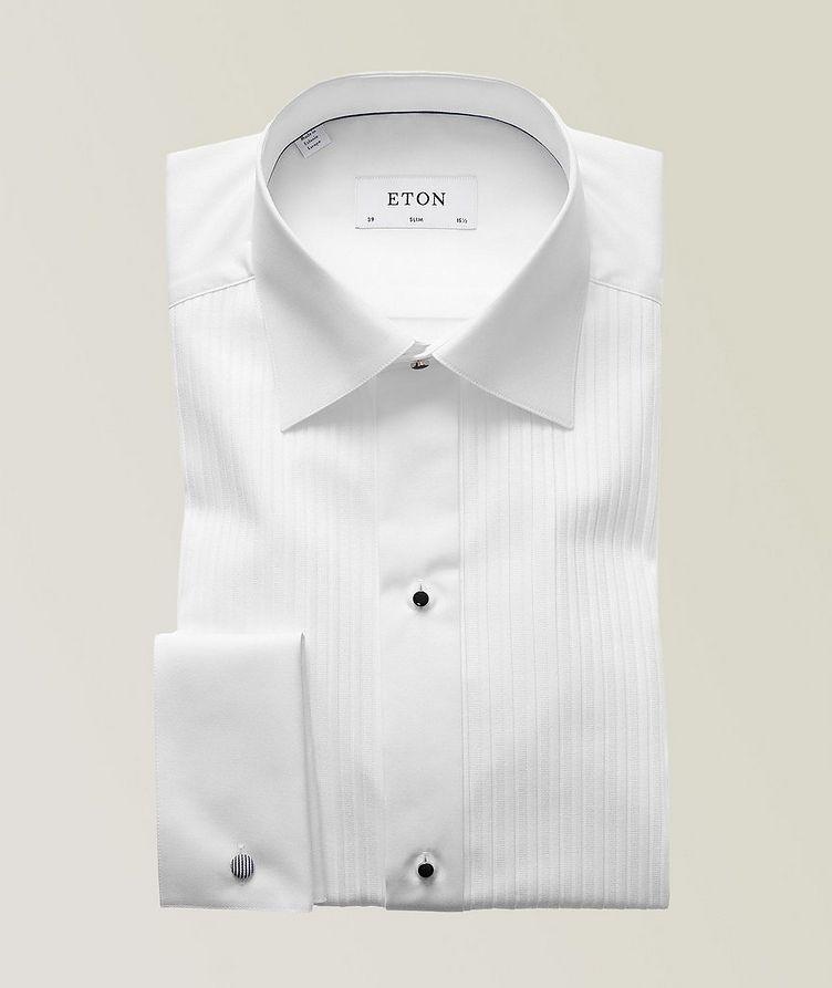 Slim Fit Pleated Bib Front Tuxedo Shirt  image 0