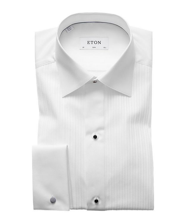 Slim Fit Pleated Bib Front Tuxedo Shirt  picture 1