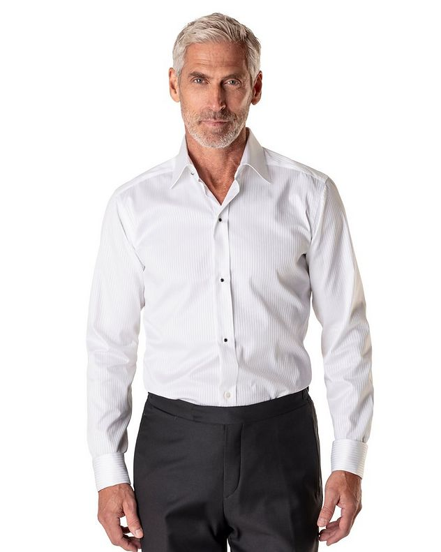 Contemporary Fit Tonal Striped Formal Shirt picture 2