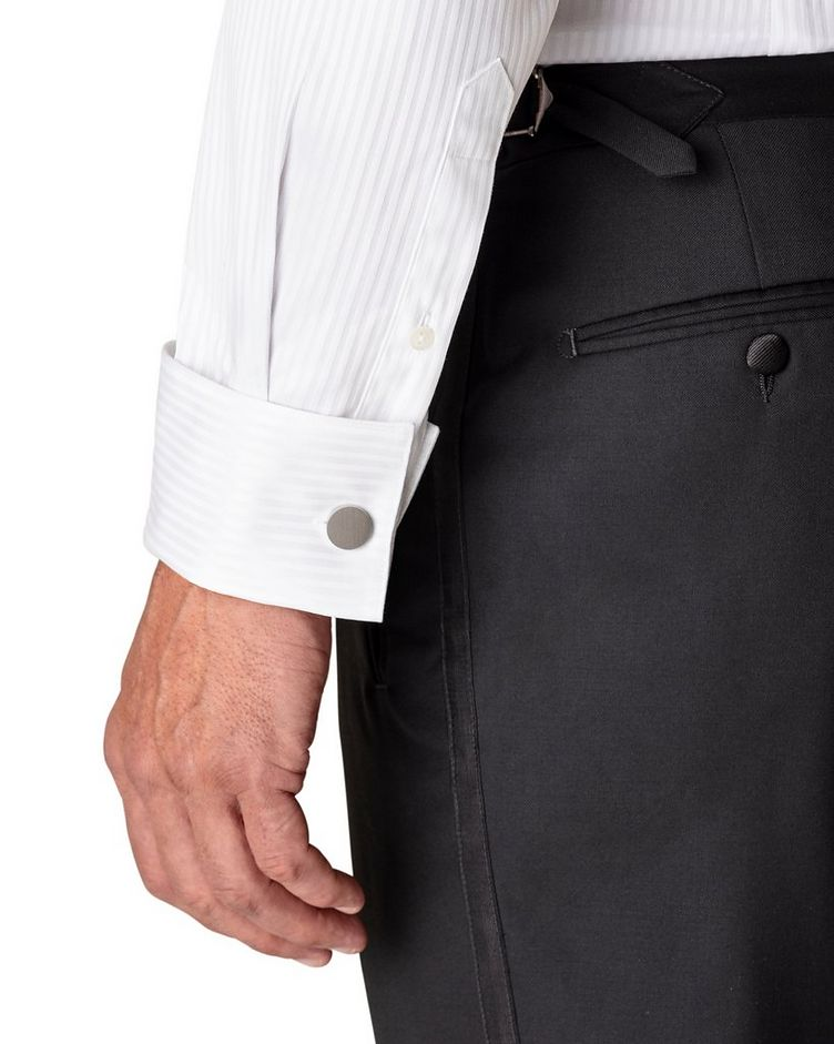 Contemporary Fit Tonal Striped Formal Shirt image 3
