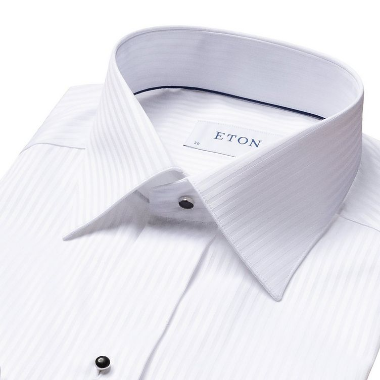 Contemporary Fit Tonal Striped Formal Shirt image 4