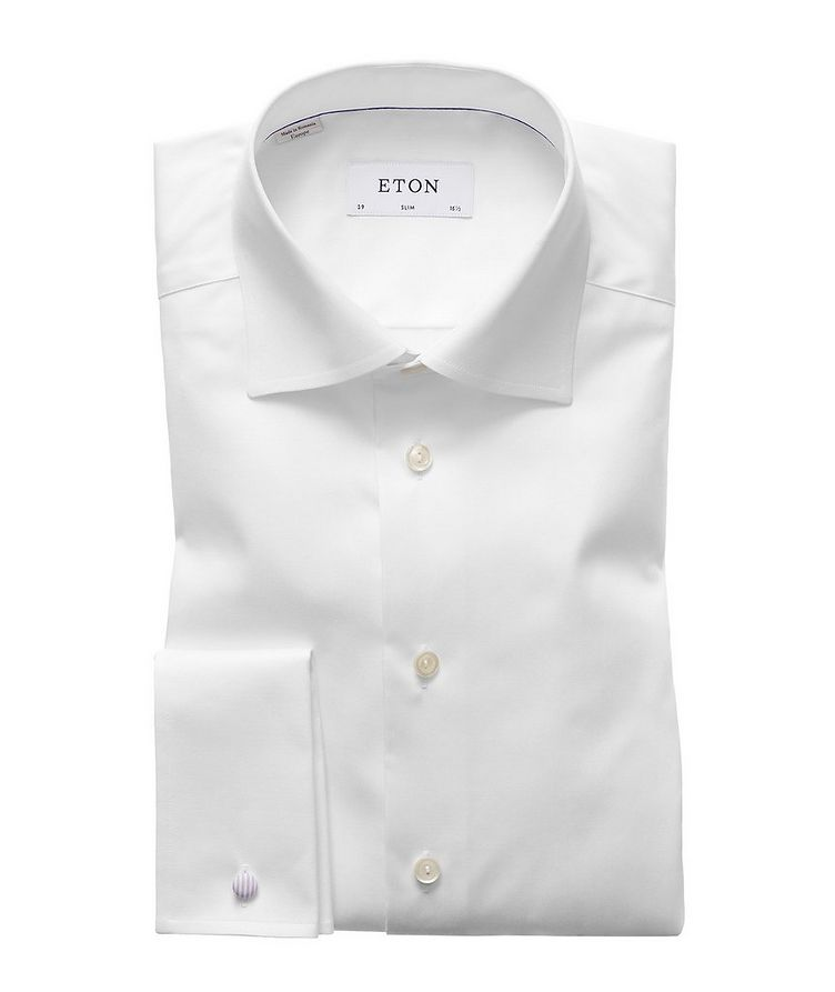 Slim Fit Twill Dress Shirt with French Cuff image 0