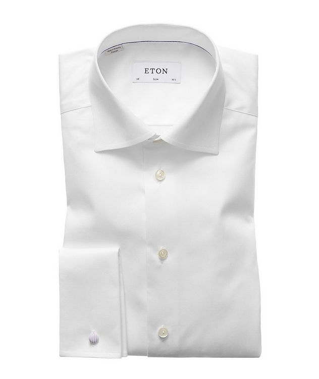 Slim Fit Twill Dress Shirt with French Cuff picture 1