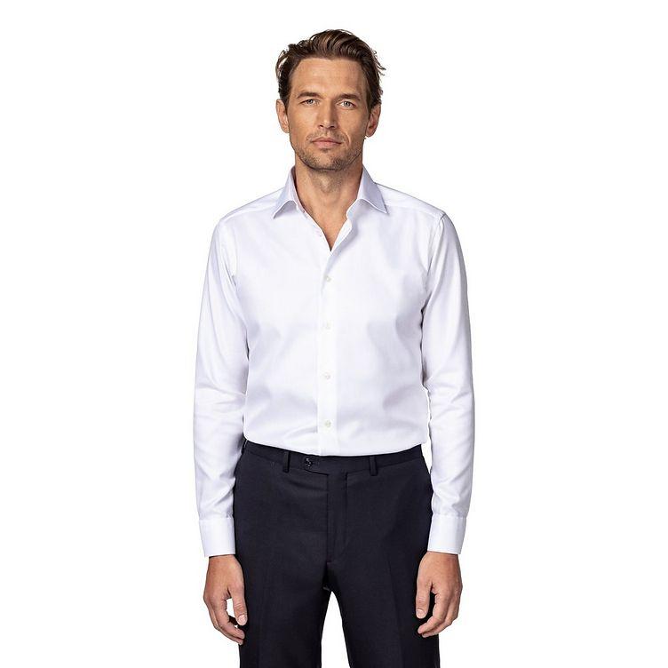 Slim Fit Diagonal Weave Dress Shirt image 1