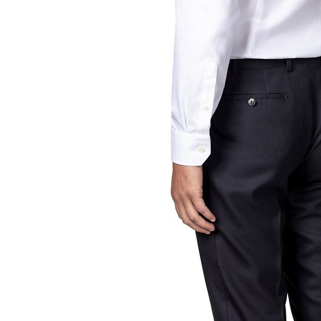 Slim Fit Diagonal Weave Dress Shirt picture 3