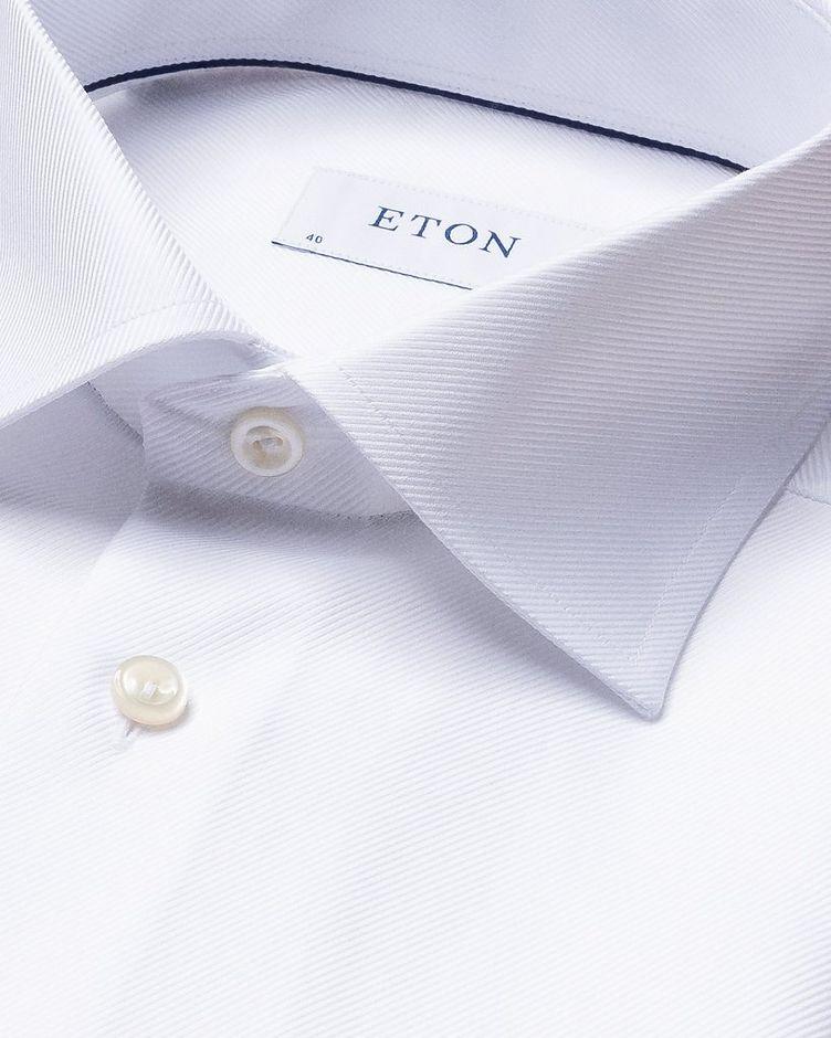 Slim Fit Diagonal Weave Dress Shirt image 3