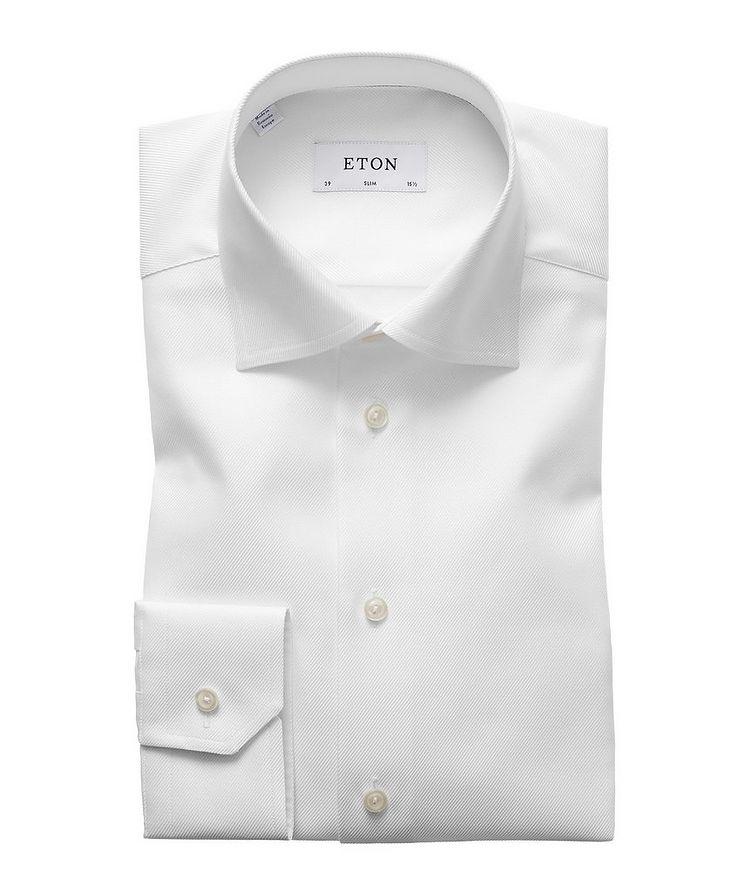 Slim Fit Diagonal Weave Dress Shirt image 0