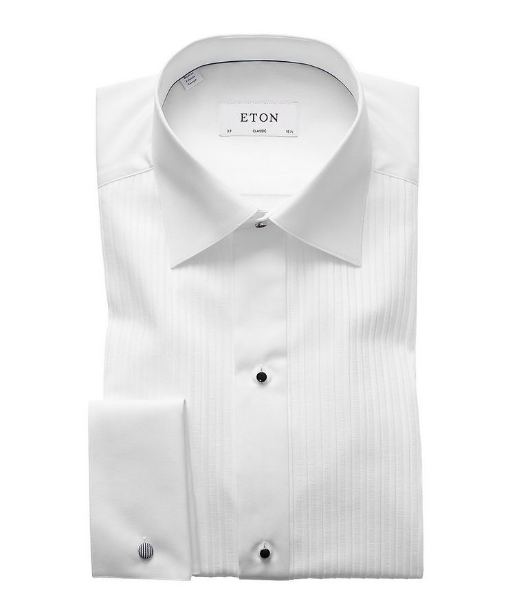 Classic Fit Pleated Bib Front Tuxedo Shirt  image 0