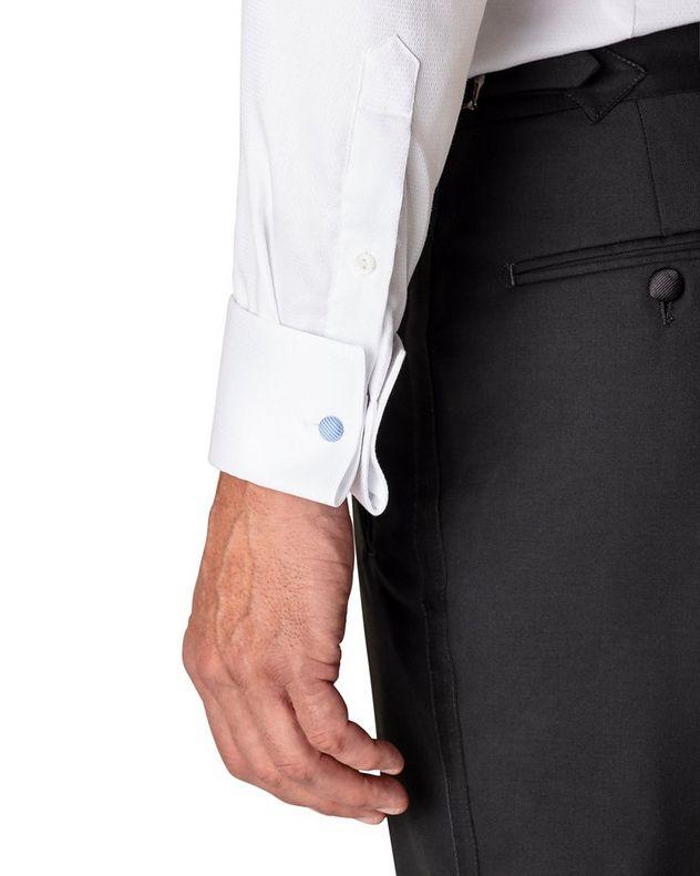 Contemporary Fit Diamond Weave Tuxedo Shirt  picture 4