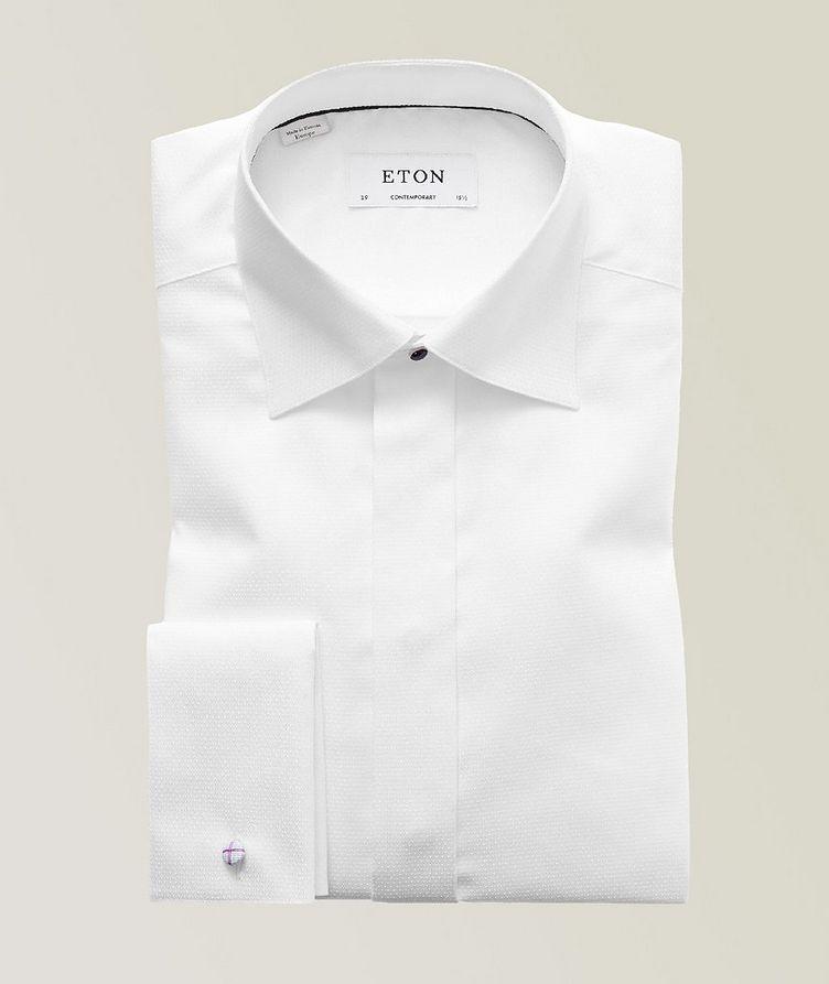 Contemporary Fit Diamond Weave Tuxedo Shirt  image 0