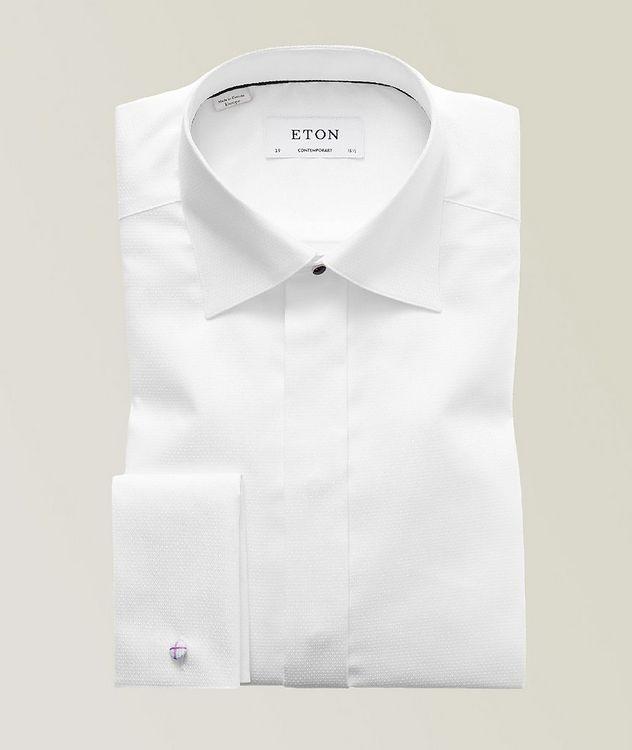 Contemporary Fit Diamond Weave Tuxedo Shirt  picture 1
