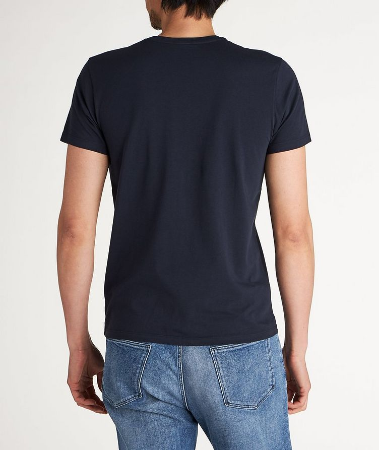 T-shirt extensible à encolure ronde image 1