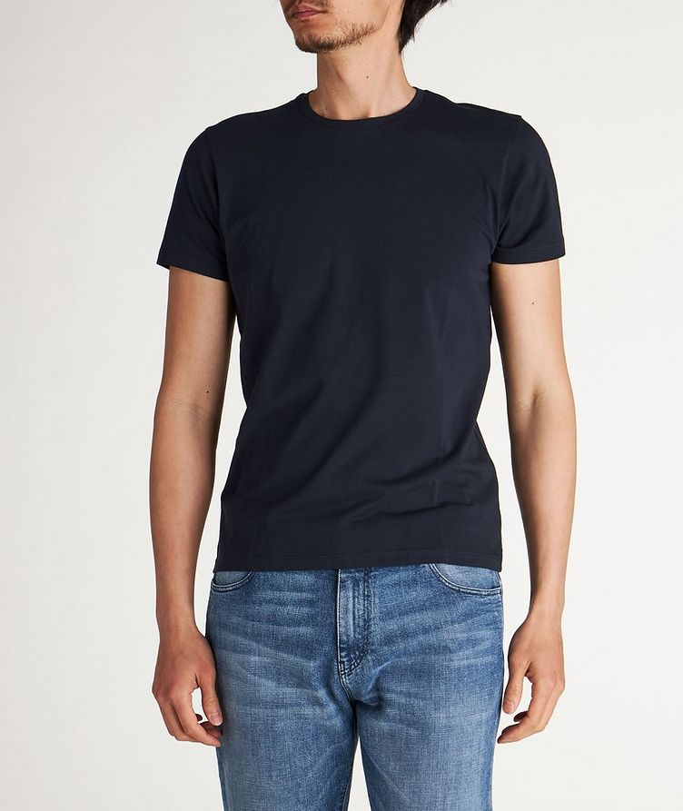 T-shirt extensible à encolure ronde image 0