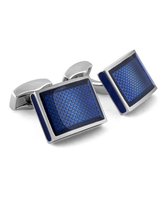 Square D-Shape Cufflinks picture 1