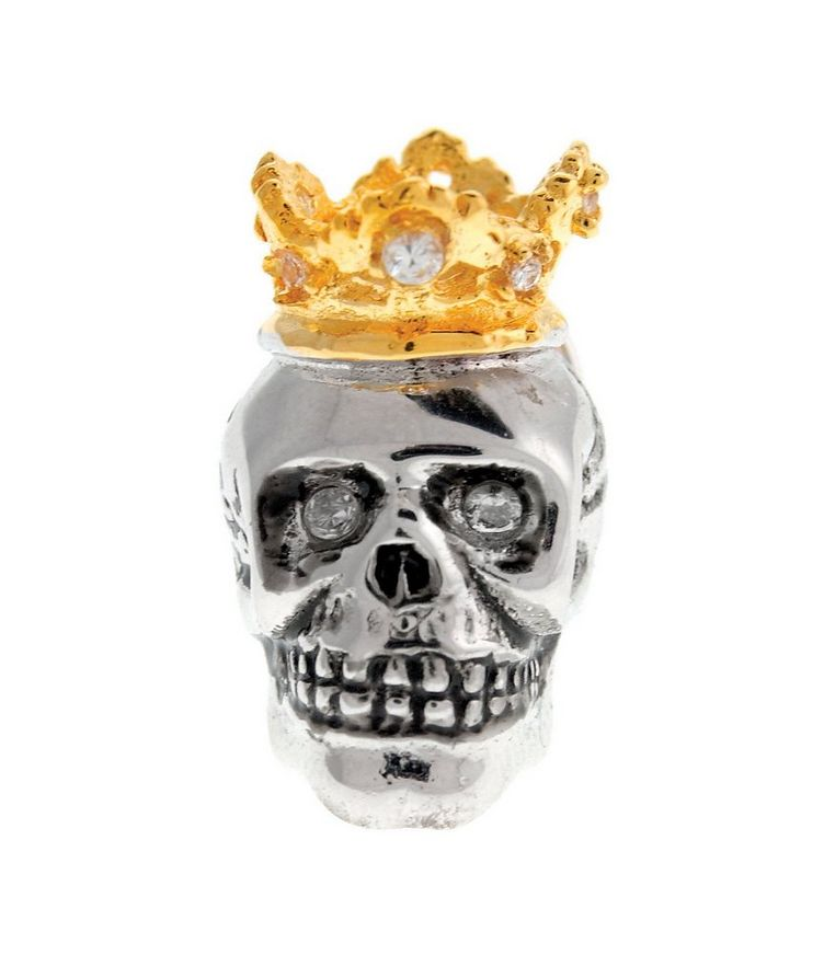 Crowned Skull Lapel Pin image 0