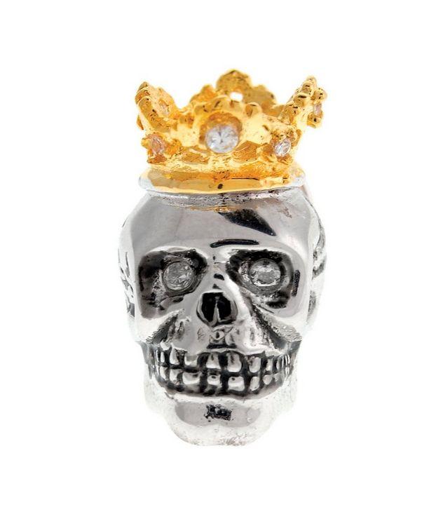 Épinglette en forme de crâne avec une couronne picture 1