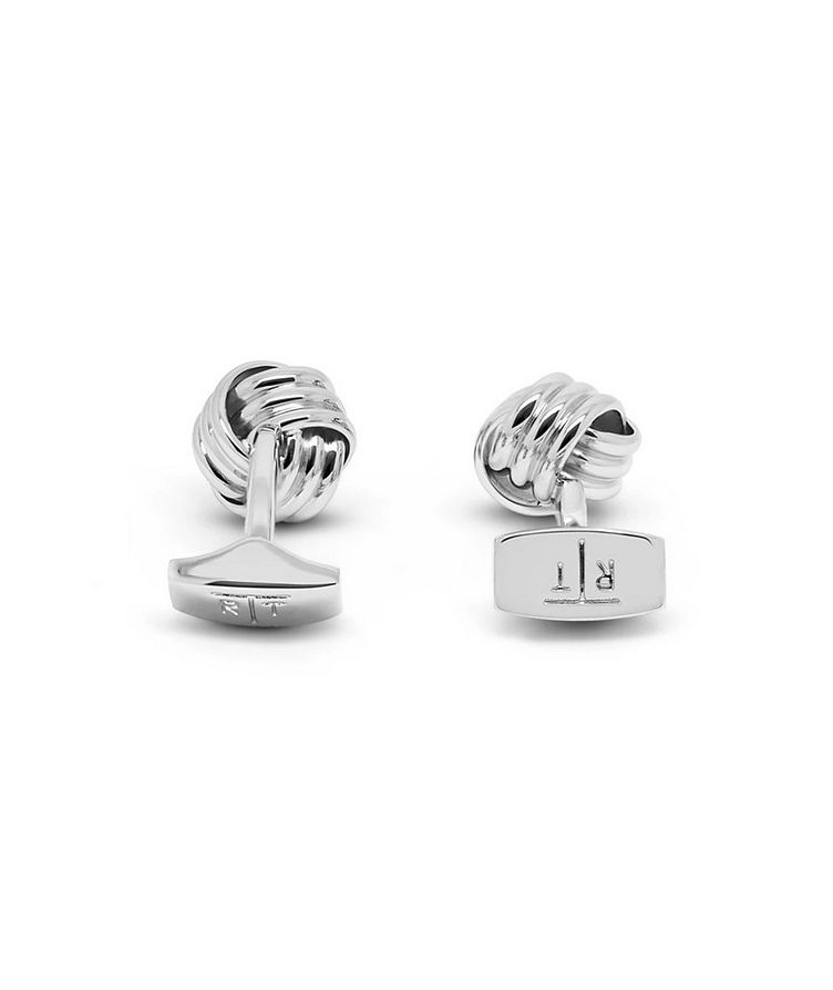 Ribbed Knot Cufflinks image 2