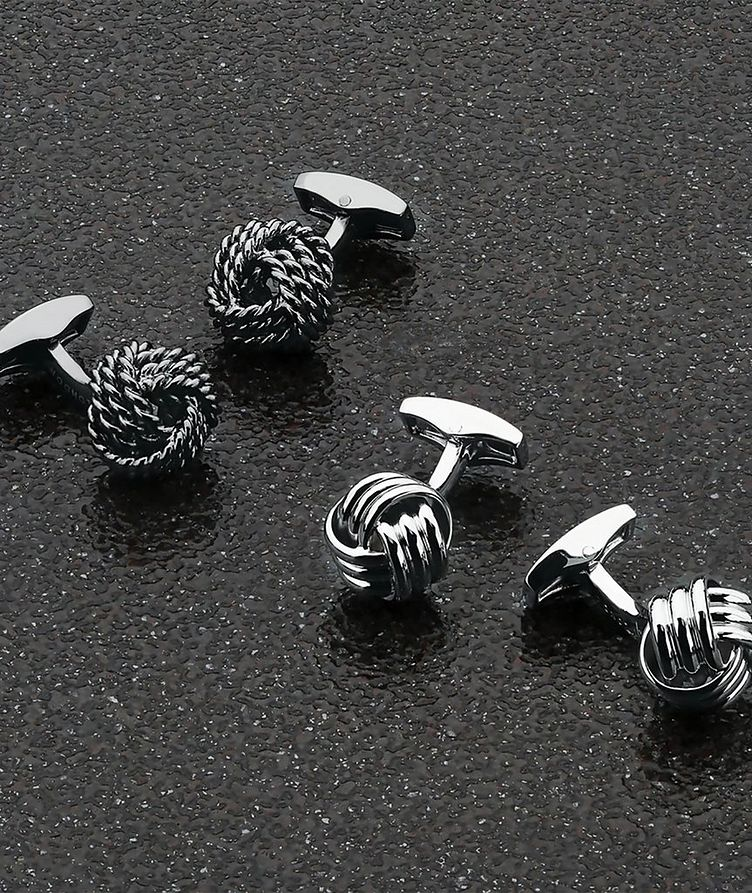Ribbed Knot Cufflinks image 3