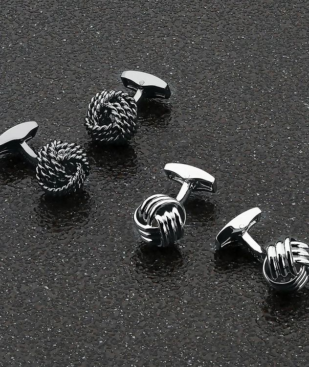 Ribbed Knot Cufflinks picture 4