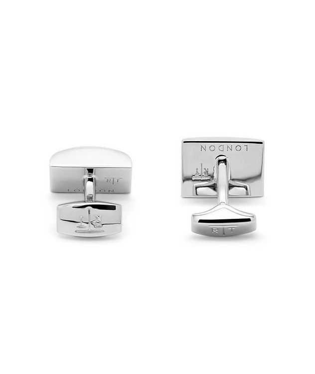 Etched D-Shape Cufflinks  picture 3