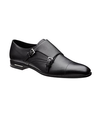 Prada Saffiano Leather Monkstraps