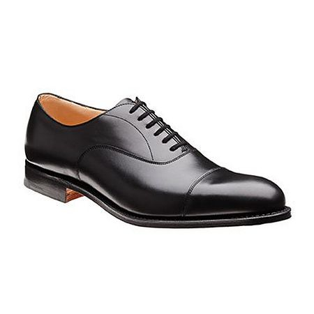 Black cap toe shoe