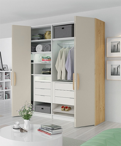 Furniture 2 Door Double Wardrobe Mohogany Effect Bedroom Furniture Cupboard Moderate Price
