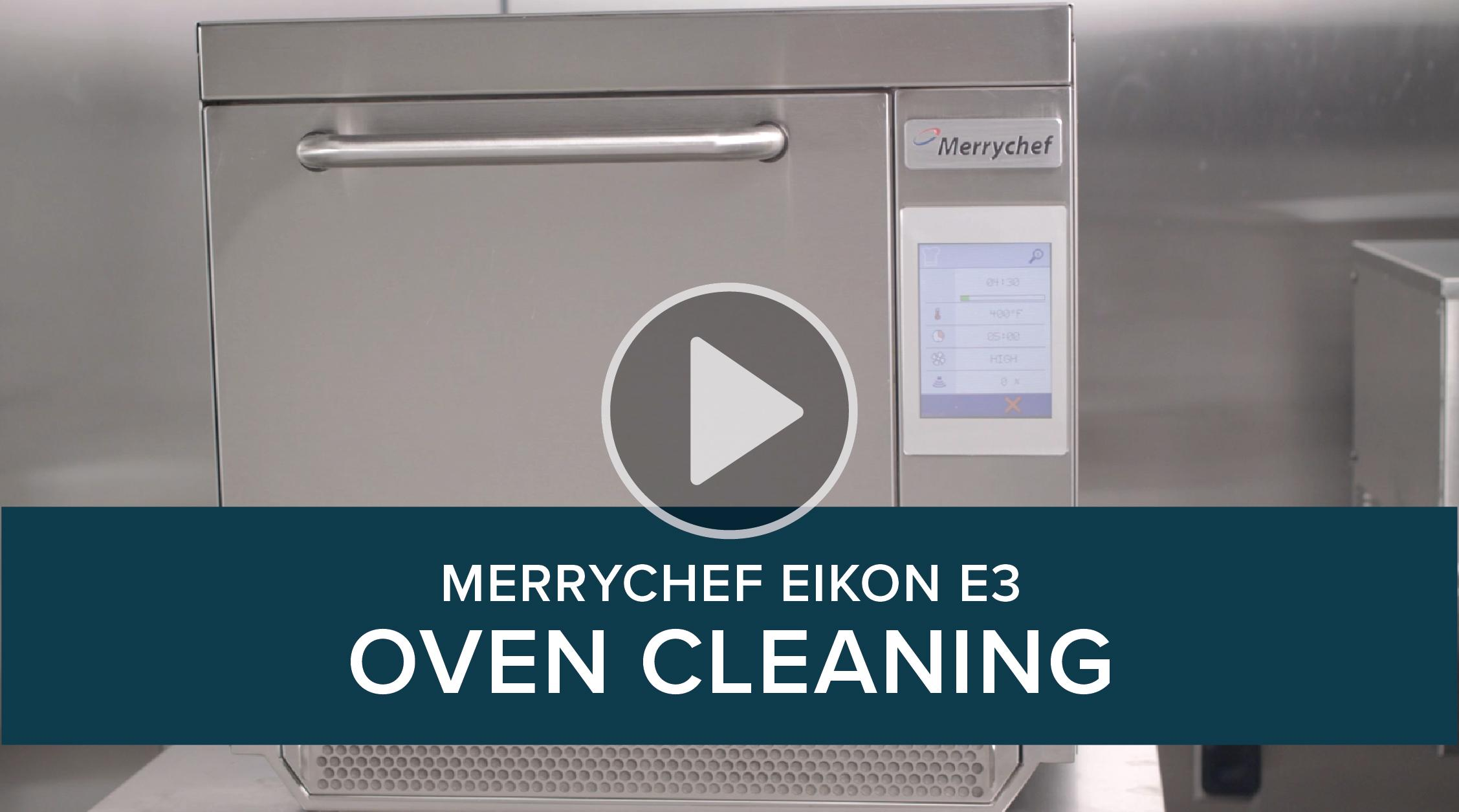 Merrychef Eikon E3 Cleaning Process