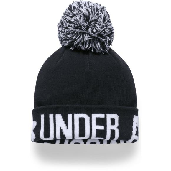 58a9060983f Under Armour Women s Graphic Pom Beanie - Main Container Image 1