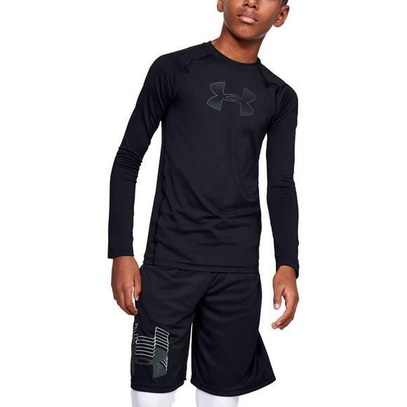 ae8aecbc Under Armour Boys' HeatGear Armour Long Sleeve Shirt - Main Container Image  1
