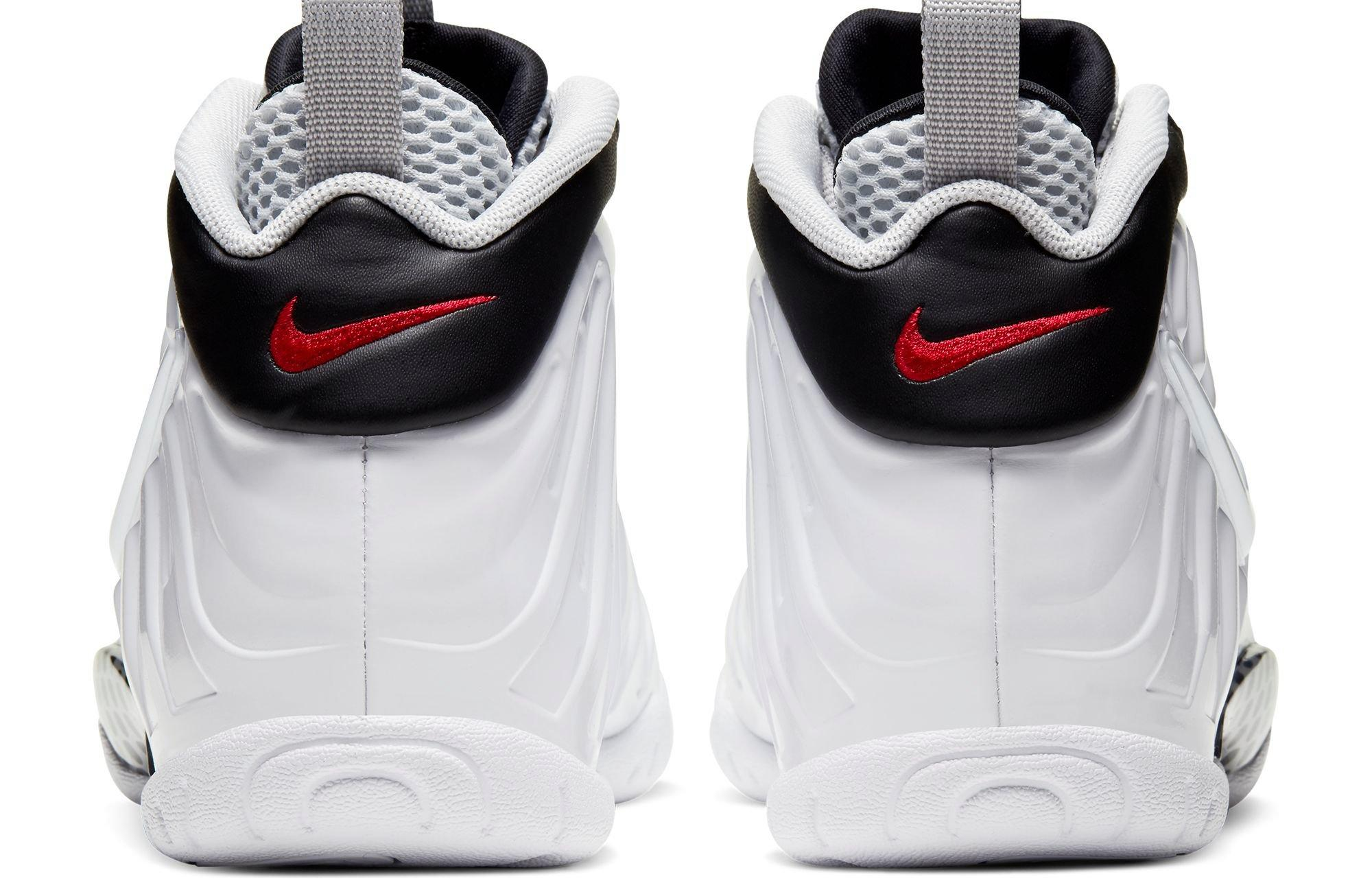 "Nike Air Foamposite and Little Posite Pro ""White/Black/University Red"" back"