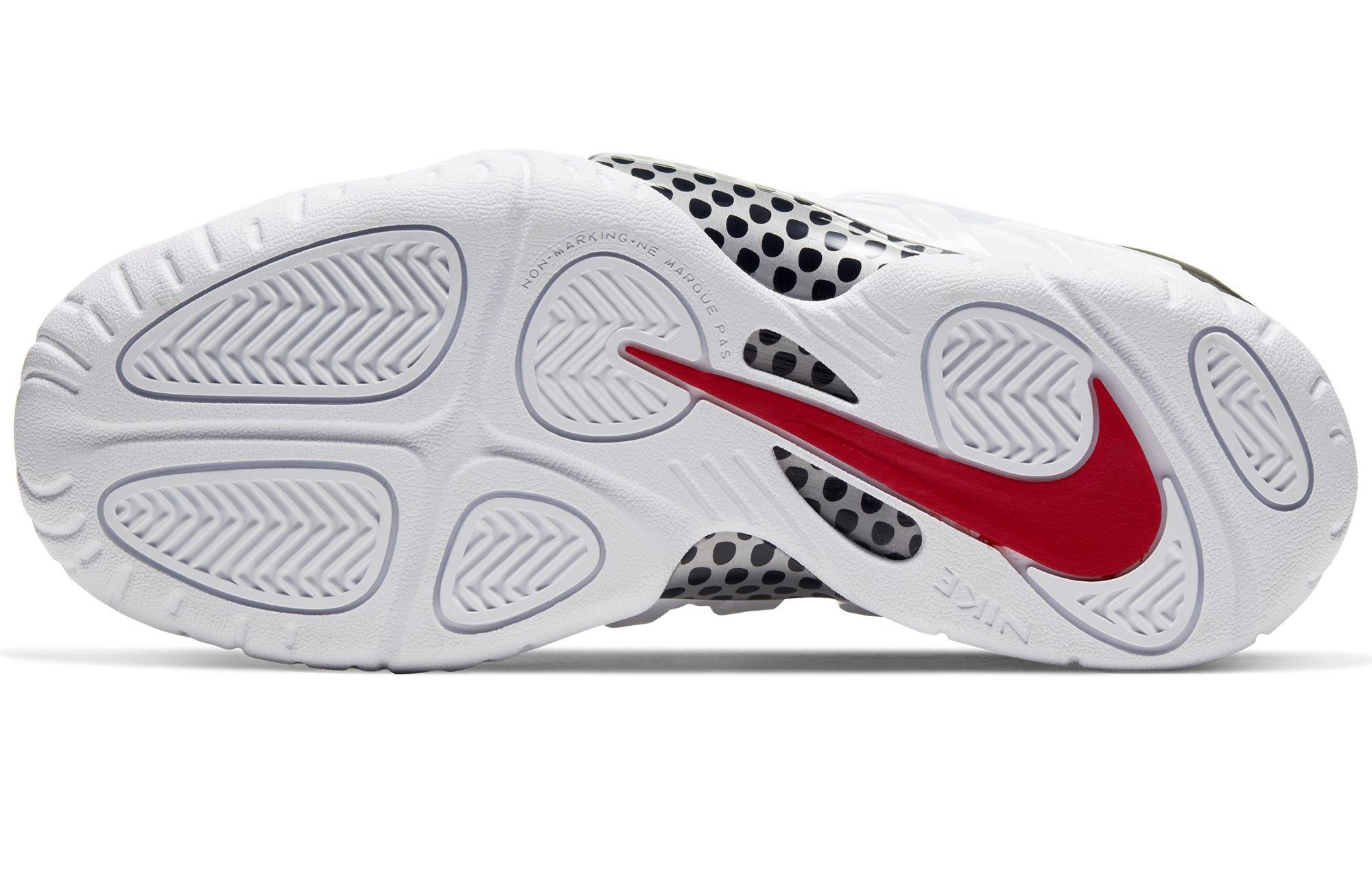 "Nike Air Foamposite and Little Posite Pro ""White/Black/University Red"" bottom"
