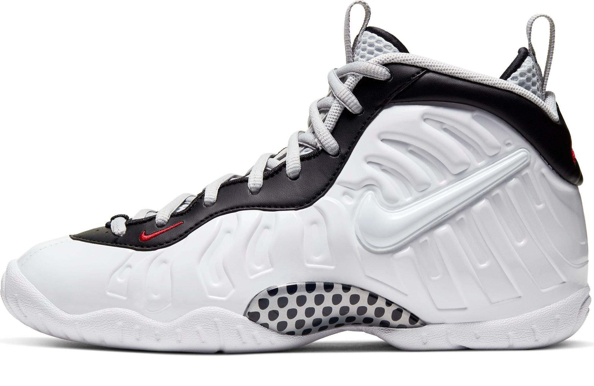 "Nike Air Foamposite and Little Posite Pro ""White/Black/University Red"" left"