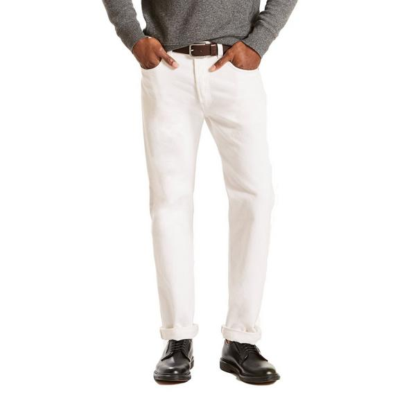 7a7615c4 Levi's Men's 501 Original Shrink To Fit White Jeans - Main Container ...