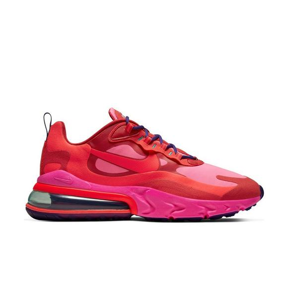 Nike Air Max 270 React Mystic Red Bright Crimson Pink Blast Men S Shoe Hibbett City Gear