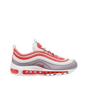 Nike Air Max 97 White Platinum Tint Track Red Women S Shoe