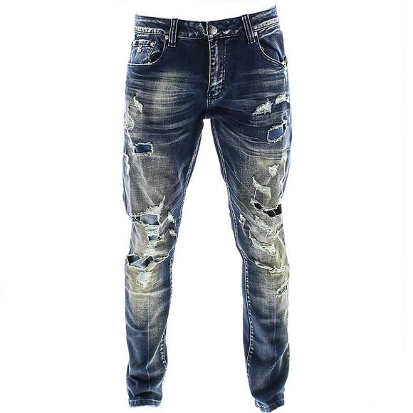 Grindhouse Men's Sanded Ripped Jeans Grindhouse Men's Sanded Ripped Jeans by Hibbett