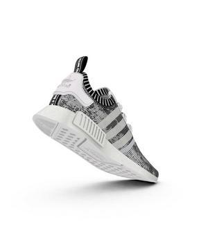 Adidas Nmd R1 Primeknit Black White Men S Shoe Hibbett City Gear