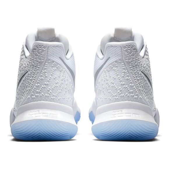 premium selection 1eb9e a2e94 Nike Kyrie 3 White/Chrome Men's Basketball Shoe - Hibbett ...