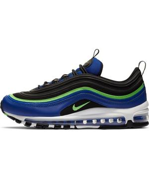 Nike Air Max 97 Hyper Blue Green Strike Men S Shoes Hibbett
