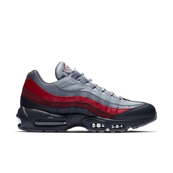 Nike Air  Max 95 Esencial Gris  Air Rojo Hombres Zapato Hibbett Nosotros 752e3e