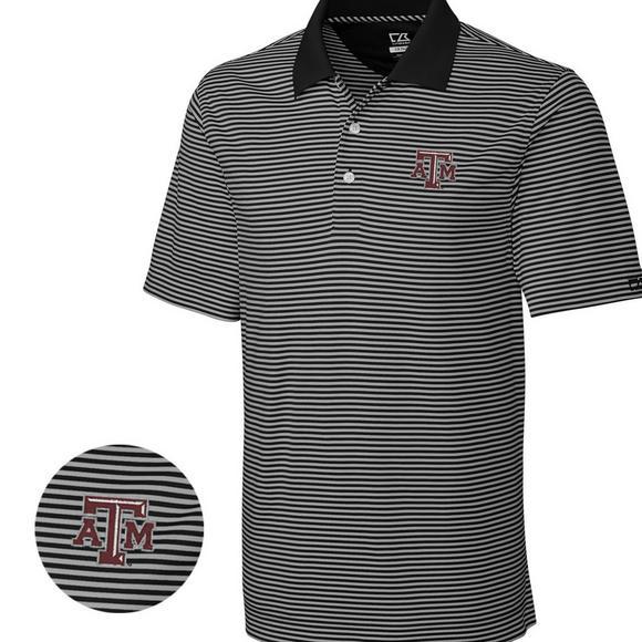 newest 66d63 a8c2e Cutter & Buck Men's Texas A&M Aggies Big & Tall DryTec Trevor Stripe Shirt