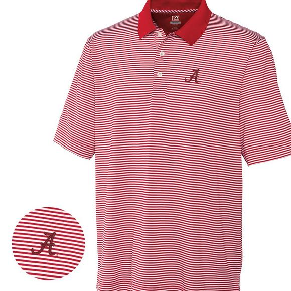 4ac629688 Cutter & Buck Men's Alabama Crimson Tide Big & Tall DryTec Trevor Stripe  Shirt - Main