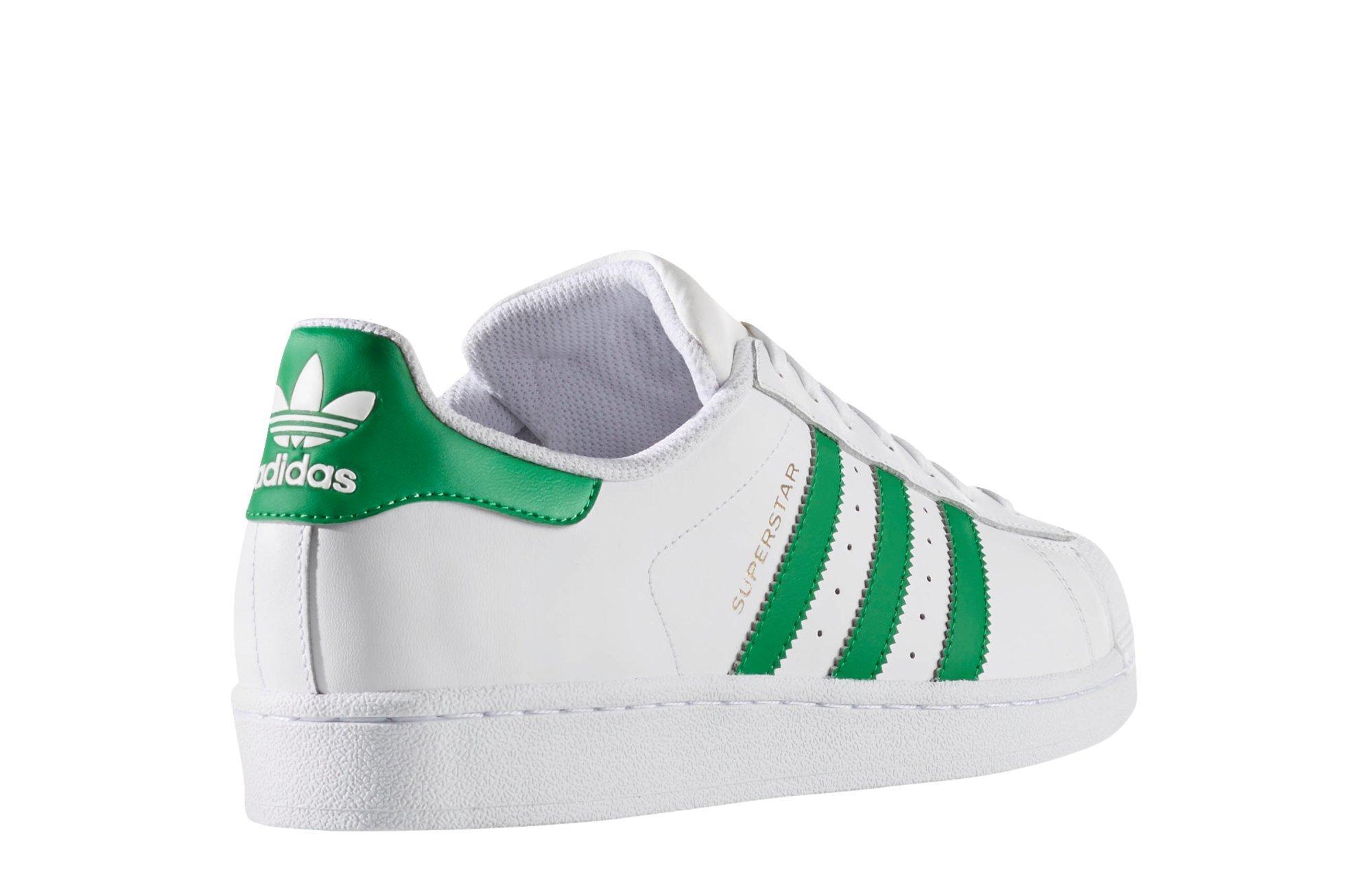 adidas superstar green shoes