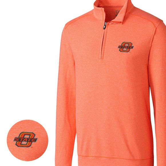 46ac5c5a62f Cutter & Buck Men's Oklahoma State Cowboys Big & Tall Shoreline Halfzip  Jacket - Main Container