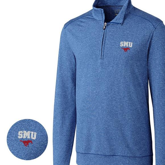 94a614653 Cutter & Buck Men's SMU Mustangs Big & Tall Shoreline Halfzip Jacket -  Hibbett US